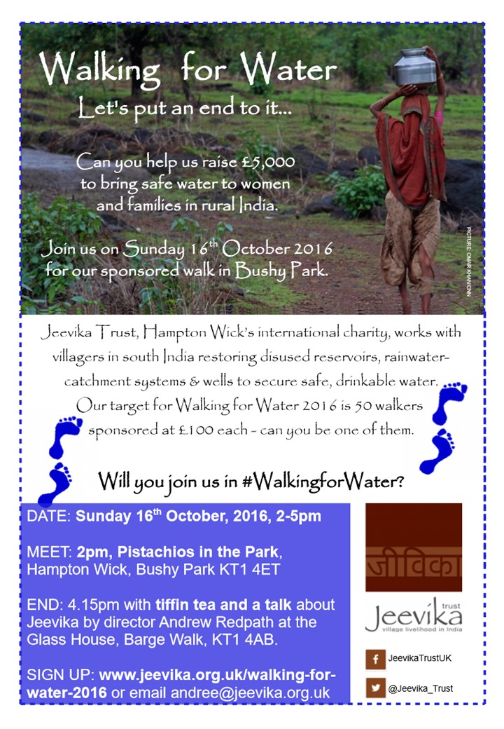 Walking for Water Poster